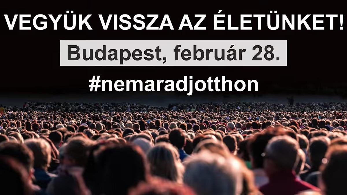 VEGYÜK VISSZA AZ ÉLETÜNKET!- Budapest, Hősök tere, február 28. 11:00 óra