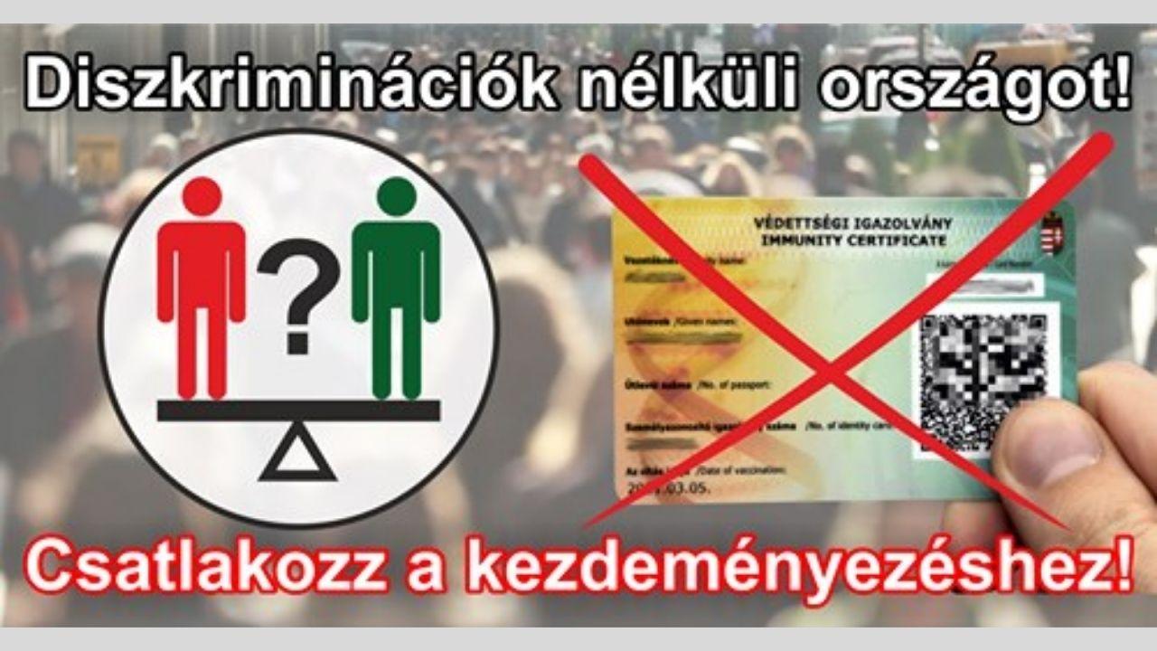 Diszkrimináció nélküli országot!