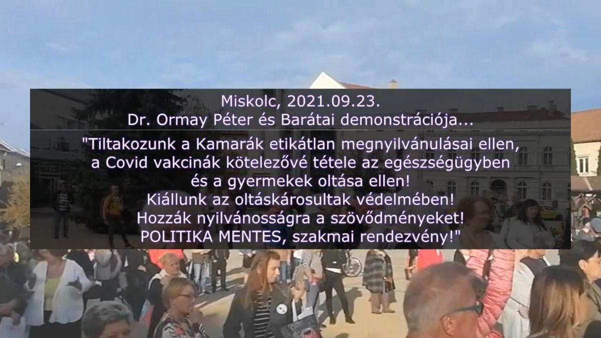 Miskolc, demonstráció a Szent István téren